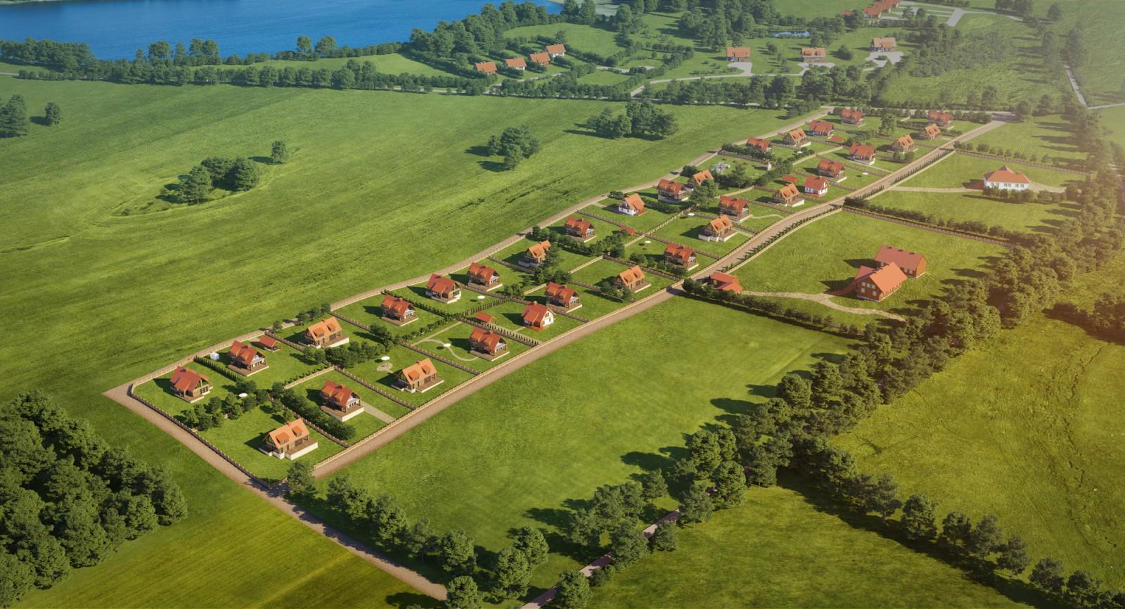 Siedlung am Jagodne-See