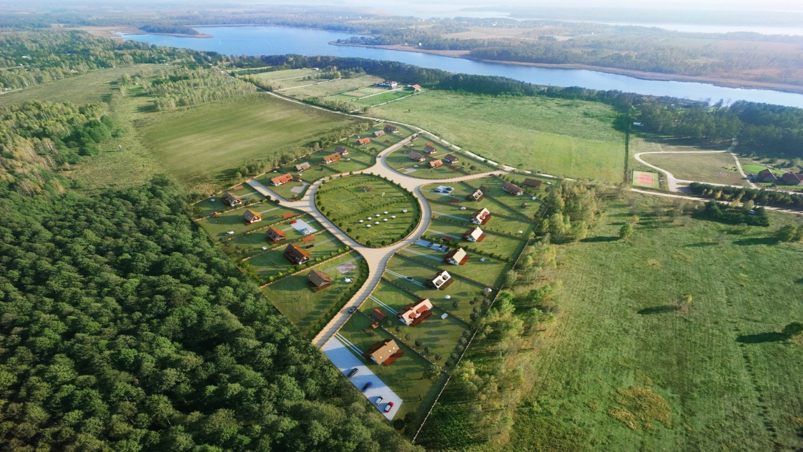 Osada nad jeziorem Roś